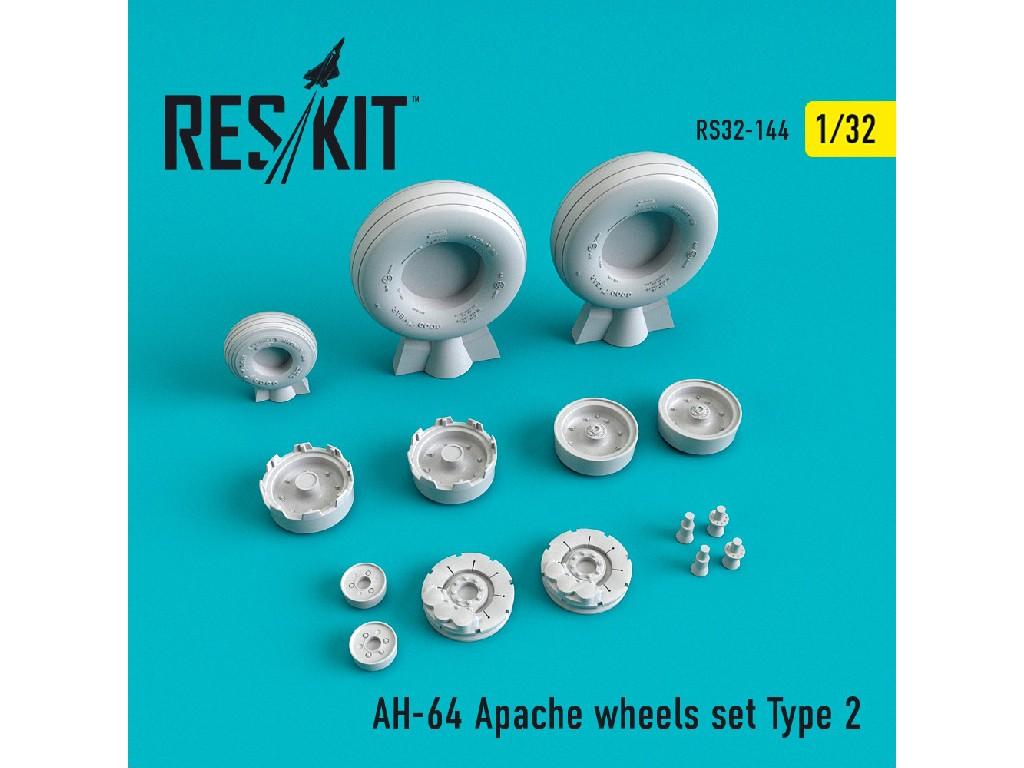 1/32 AH-64 Apache wheels set Type 2