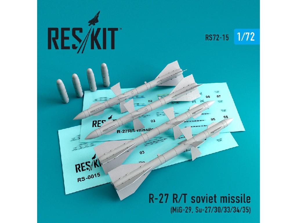 1/72 R-27 R soviet missile (4 pcs) (Mig-29, Su-27/30/33/34/35)