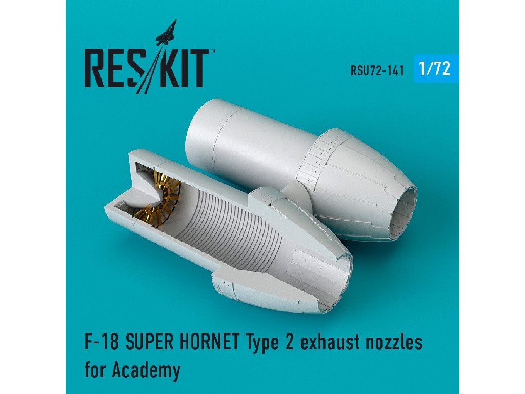 1/72 F-18 SUPER HORNET Type 2 exhaust nozzles for Academy
