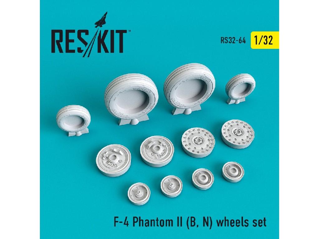1/32 F-4 Phantom II (B, N) wheels set