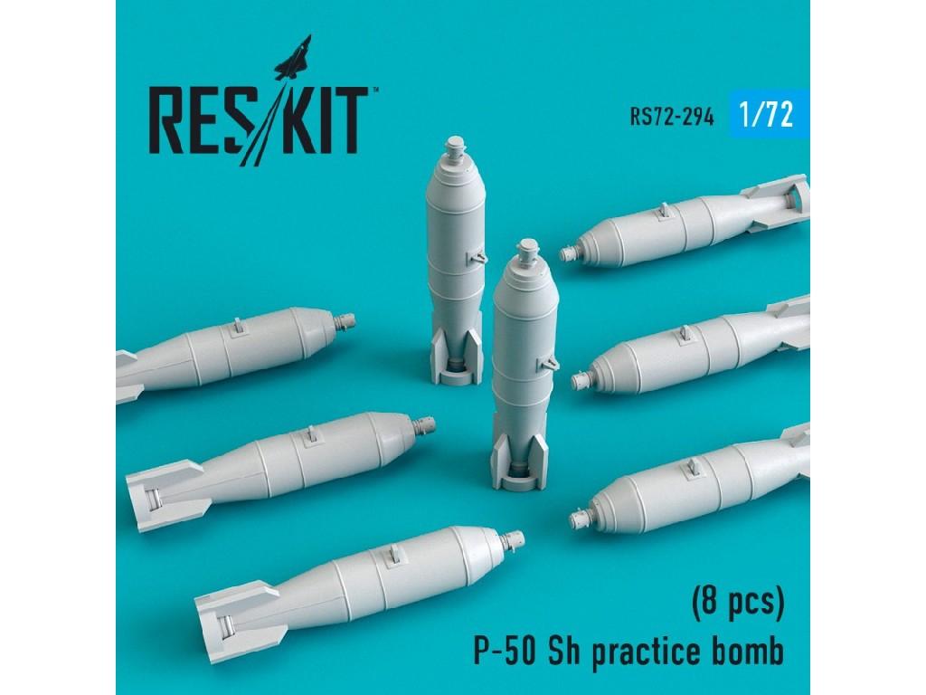 1/72 P-50 Sh practice bomb (8 pcs)(MiG-21, MiG-23, MiG-27, Su-7, Su-17, Su-24, Su-25, Su-27, Su-30,