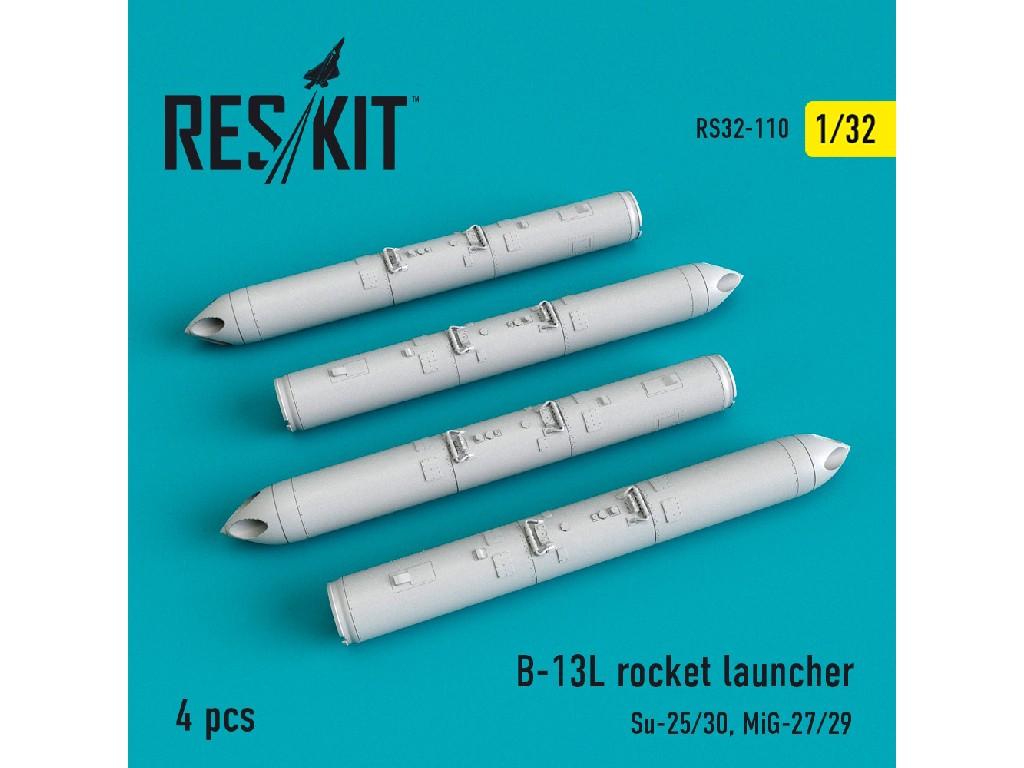 1/32 B-13L rocket launcher (4 pcs)  (Su-25/30, MiG-27/29)