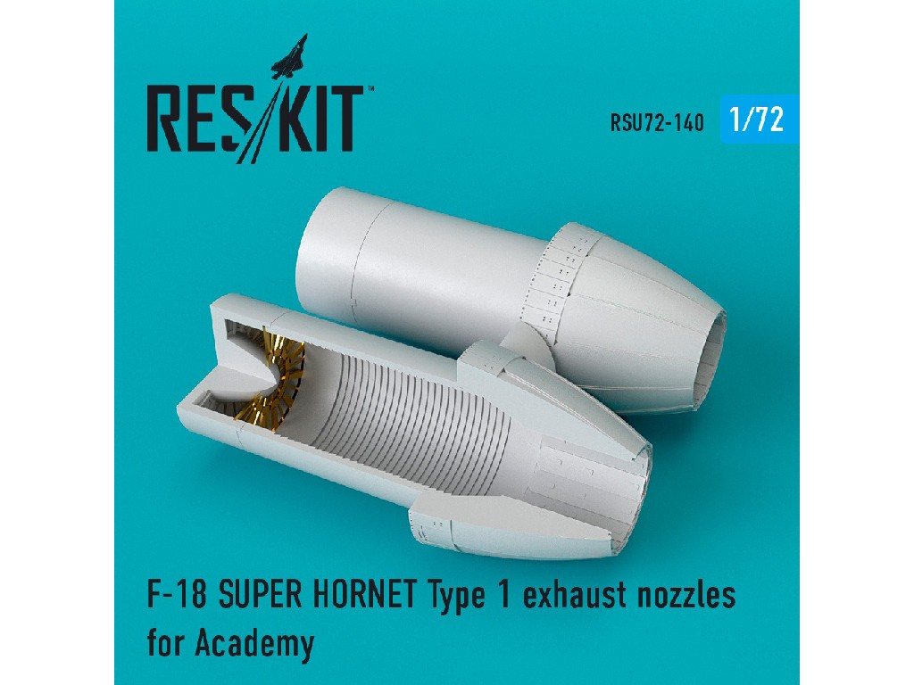 1/72 F-18 SUPER HORNET Type 1 exhaust nozzles for Academy