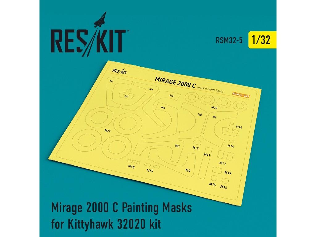 1/32 Mirage 2000 C Painting Masks for Kittyhawk 32020 kit