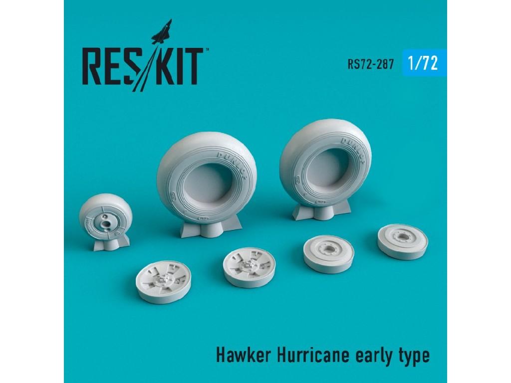 1/72 Hawker Hurricane wheels set early type