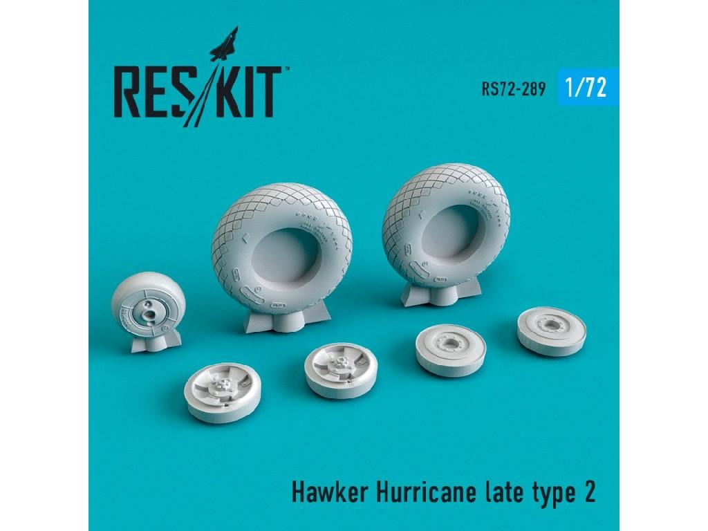 1/72 Hawker Hurricane wheels set late type 2