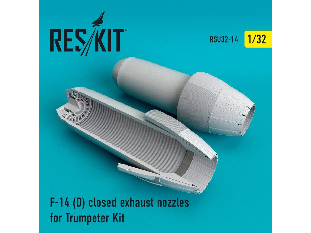 1/32 F-14 (D) closed exhaust nozzles for Trumpeter Kit