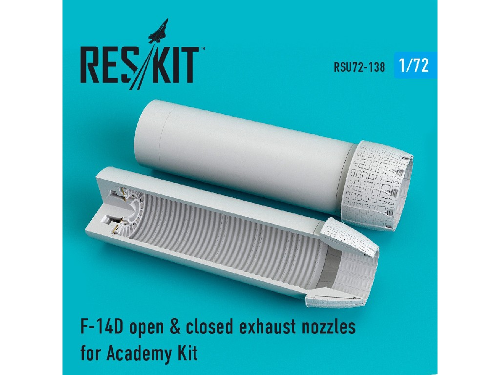 1/72 F-14D open + closed exhaust nozzles for Academy Kit