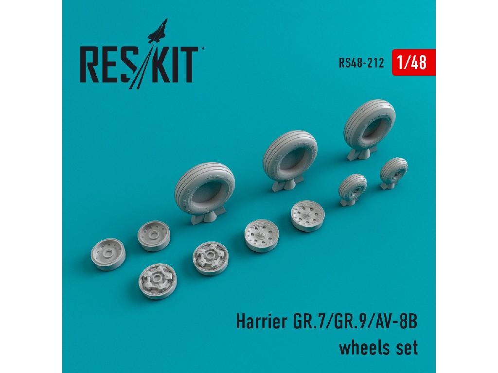 1/48 Harrier GR.7/GR.9/AV-8B wheels set