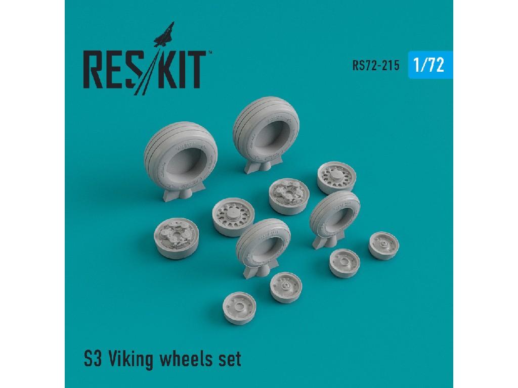 1/72 S-3 Viking wheels set