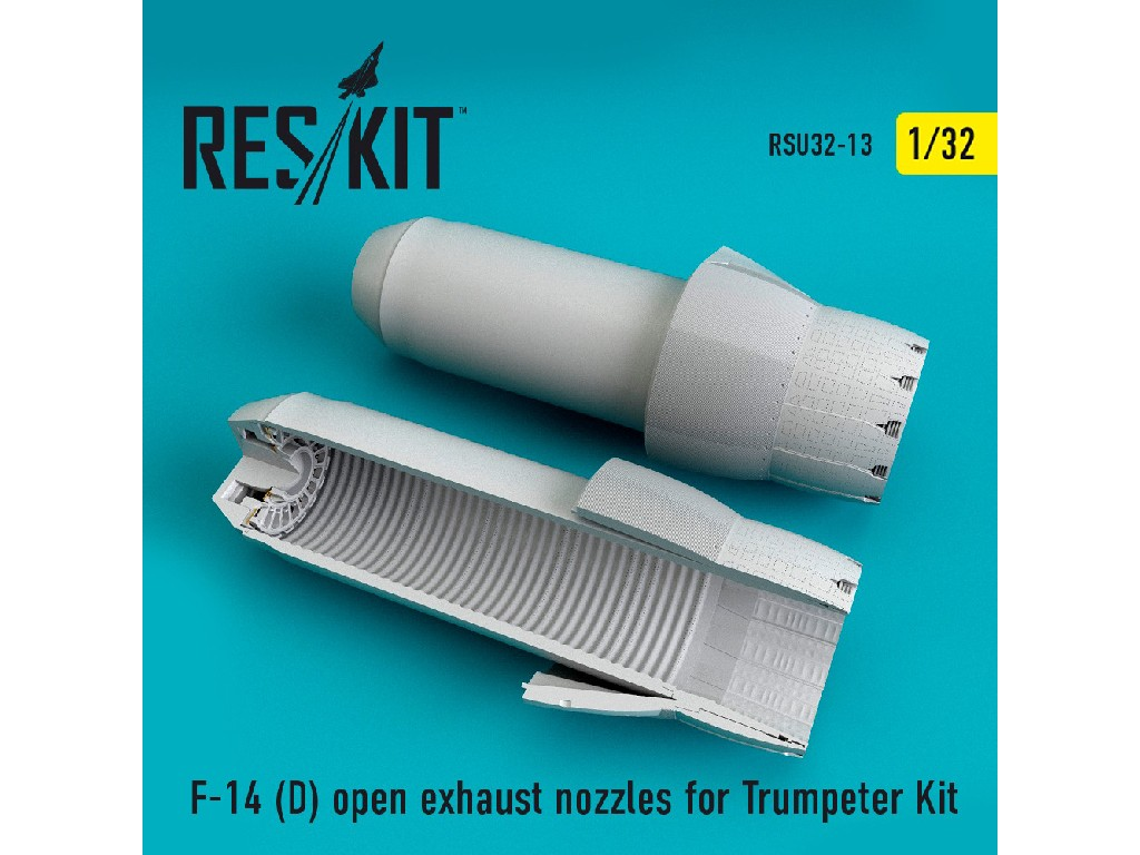 1/32 F-14 (D) open exhaust nozzles for Trumpeter Kit