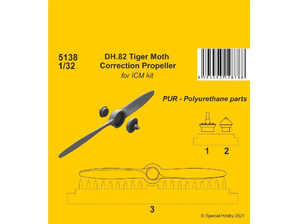 1/32 DH.82 Tiger Moth Correction Propeller(ICM kit)
