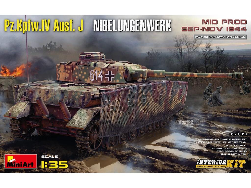 1/35 Pz.Kpfw.IV Ausf. J Nibelungenwerk. Mid Prod. (Sep-Nov 1944) Interior Kit - Miniart