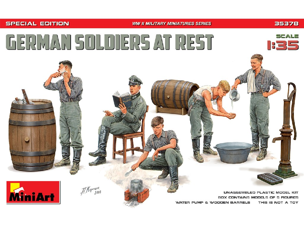 1/35 German soldiers at rest. Special edition - Miniart