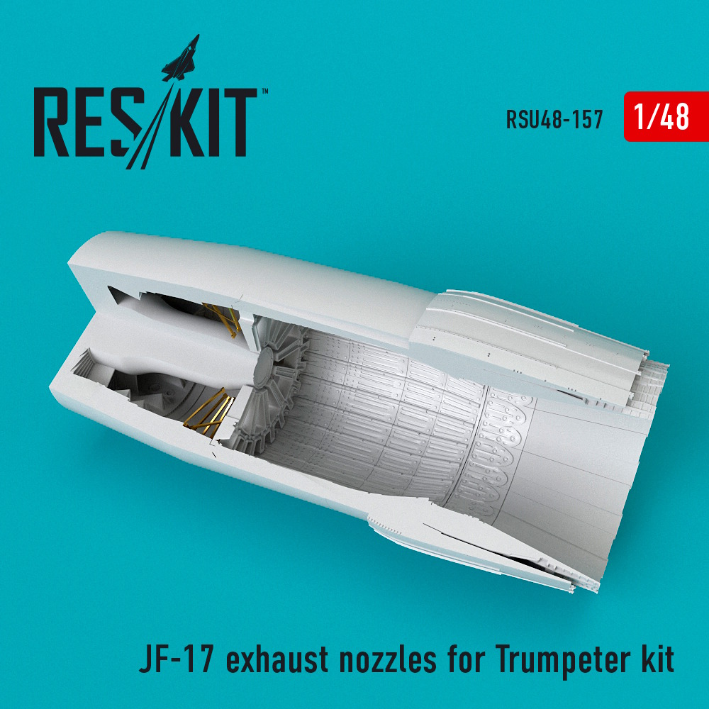1/48 JF-17 exhaust nozzles for Trumpeter kit
