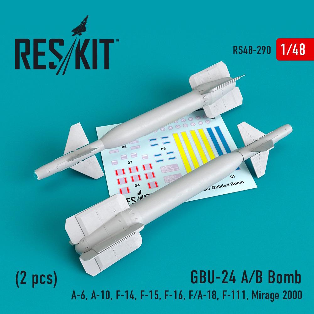 1/48 GBU-24 (A-B) Bomb (2 pcs))(A-6, A-10, F-14, F-15, F-16, F/A-18, F-111, Mirage 2000)