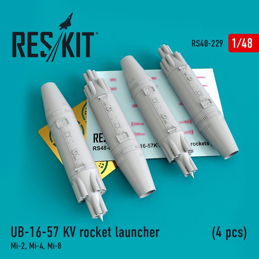 1/48 UB-16-57 KV rocket launcher (4 pcs) Mi-2, Mi-4, Mi-8