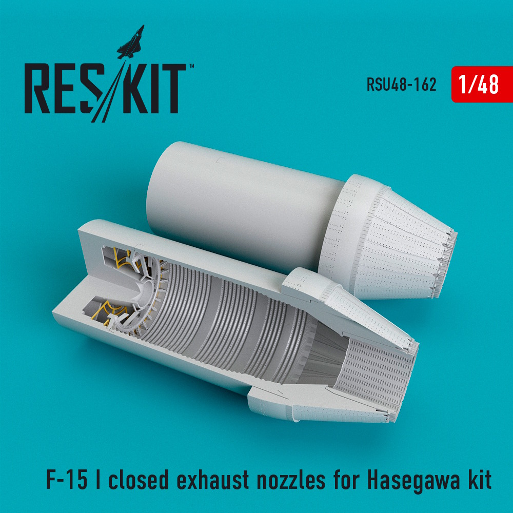 1/48 F-15 (I) closed exhaust nozzles for Hasegawa Kit
