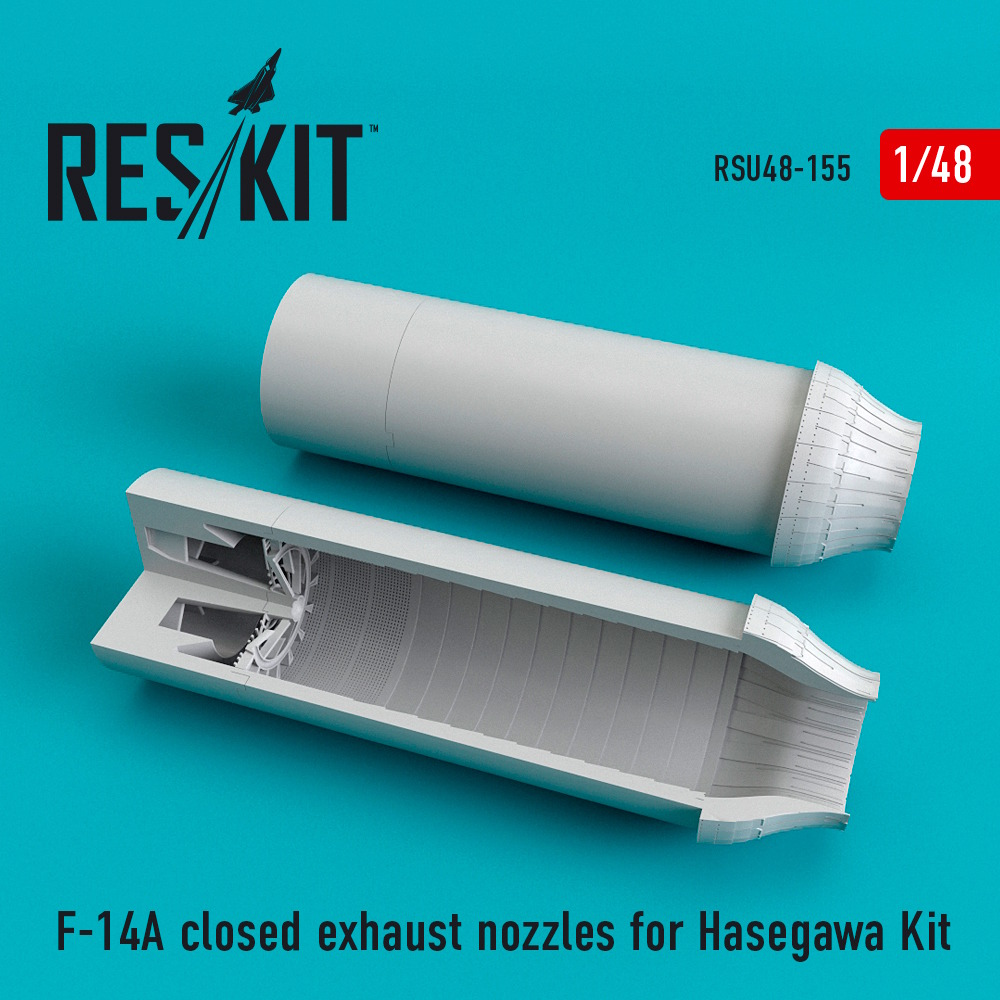 1/48 F-14A closed exhaust nozzles for Hasegawa Kit