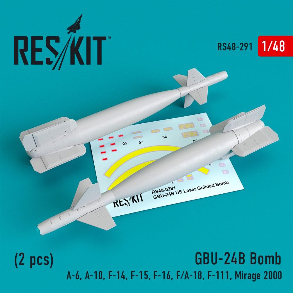 1/48 GBU-24 (B) Bomb (2 pcs)(A-6, A-10, F-14, F-15, F-16, F/A-18, F-111, Mirage 2000)