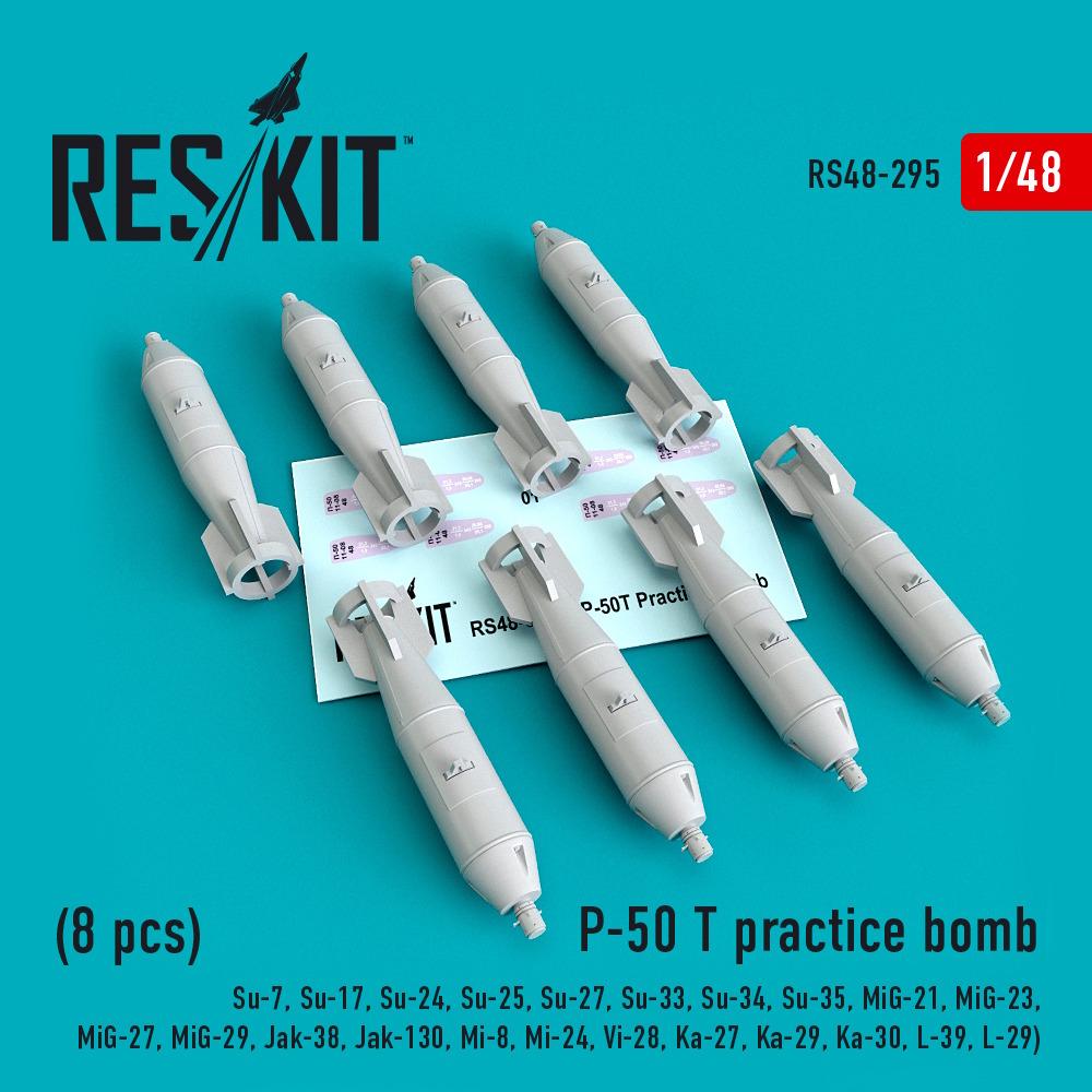 1/48 P-50 T practice bomb (8 pcs)(Su-7, Su-17, Su-24, Su-25, Su-27, Su-33, Su-34, Su-35, MiG-21, MiG