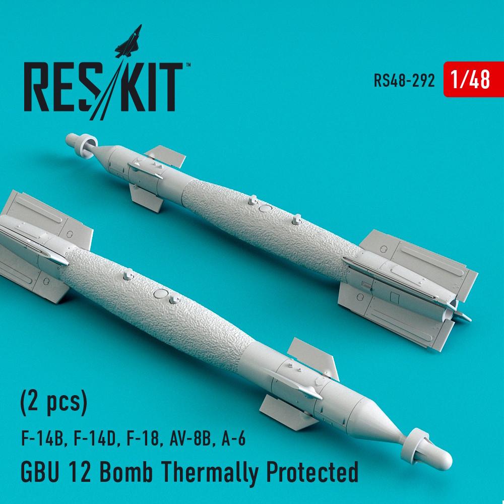 1/48 GBU 12 Bomb Thermally Protected (2 pcs) (F-14B, F-16, F-15E, F-14D, Harrier, Rafale, Mirage 200
