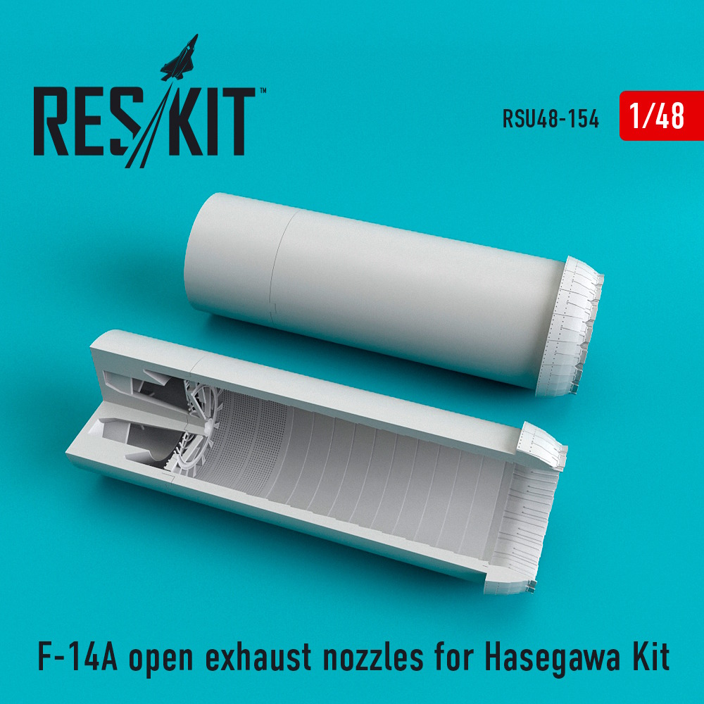 1/48 F-14A open exhaust nozzles for Hasegawa Kit