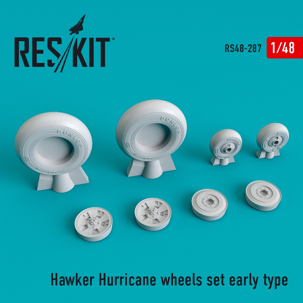 1/48 Hawker Hurricane wheels set early type
