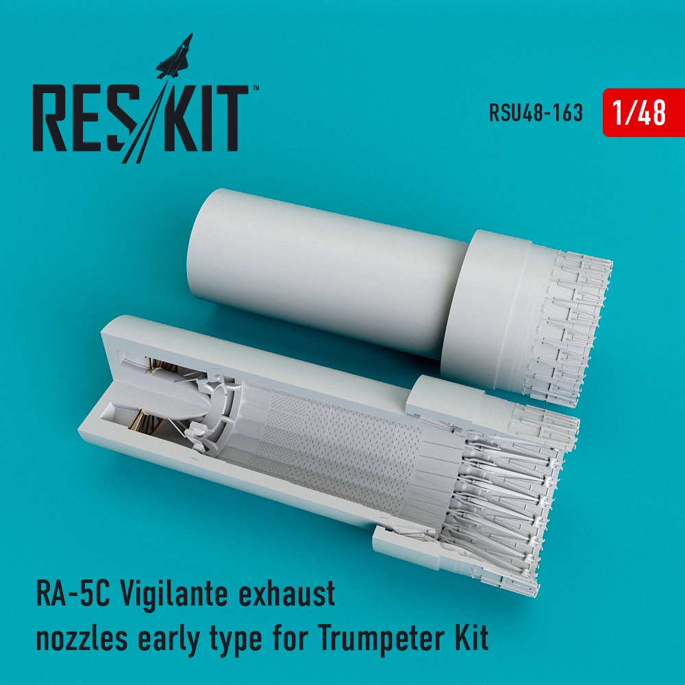 1/48 RA-5C Vigilante exhaust nozzles early type for Trumpeter Kit