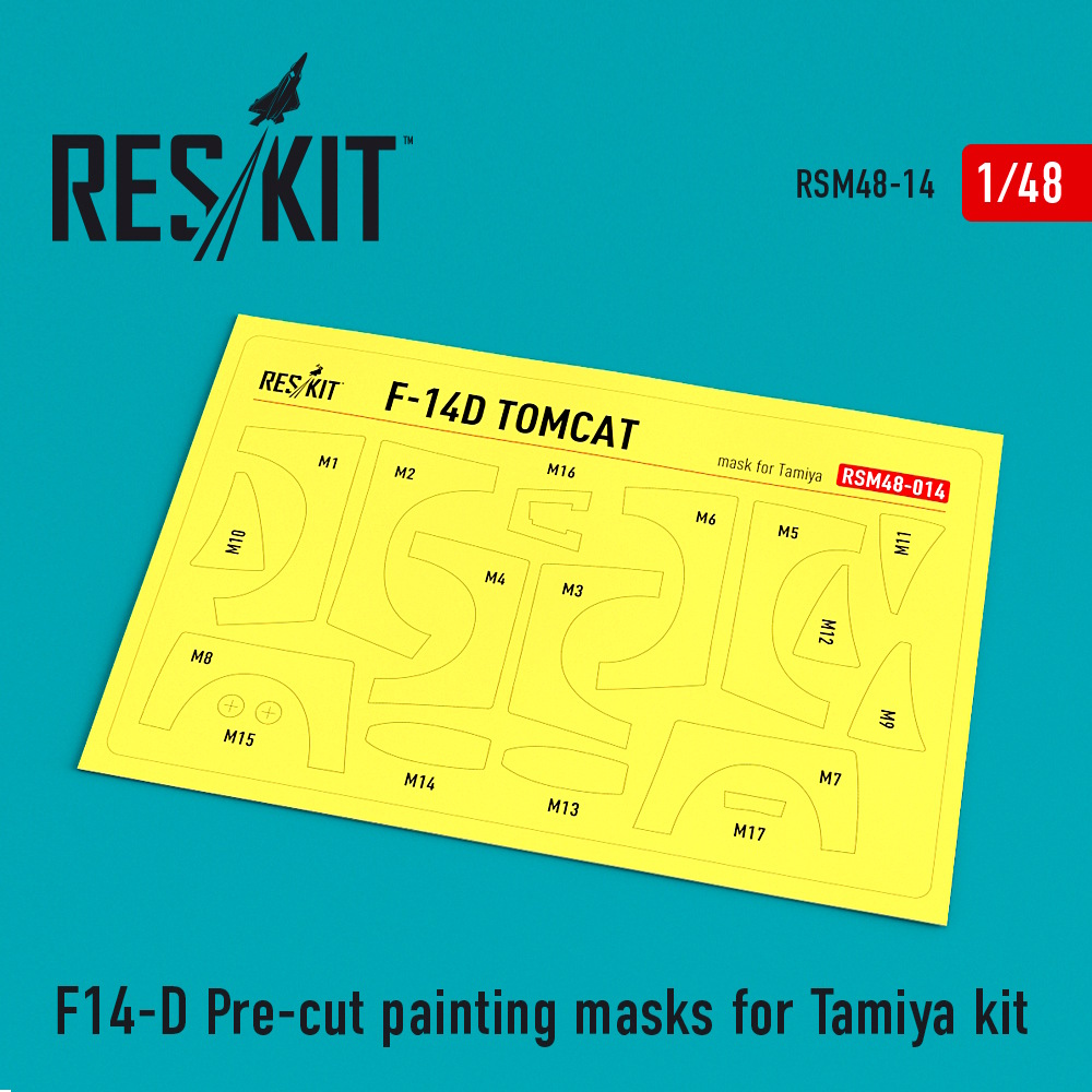 1/48 F-14D Pre-cut painting masks for Tamiya Kit