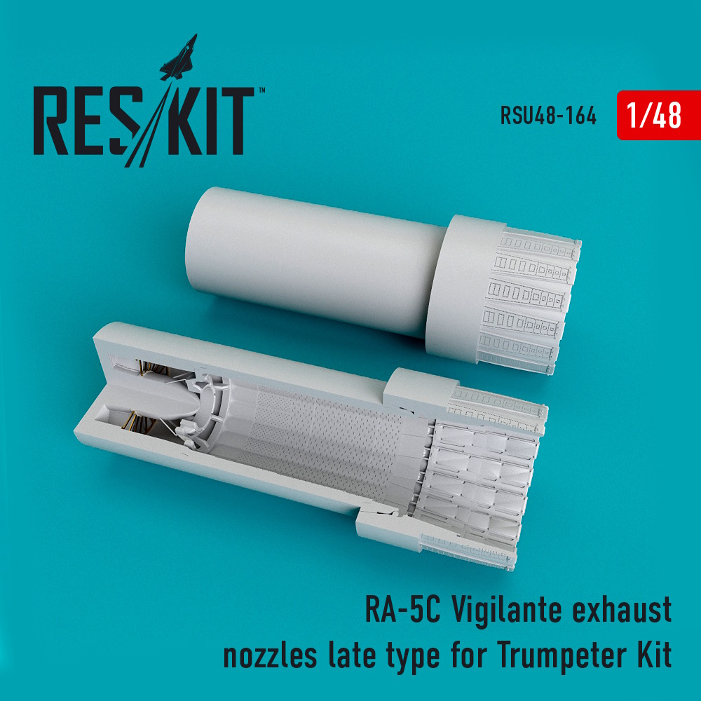 1/48 RA-5C Vigilante exhaust nozzles late type for Trumpeter Kit