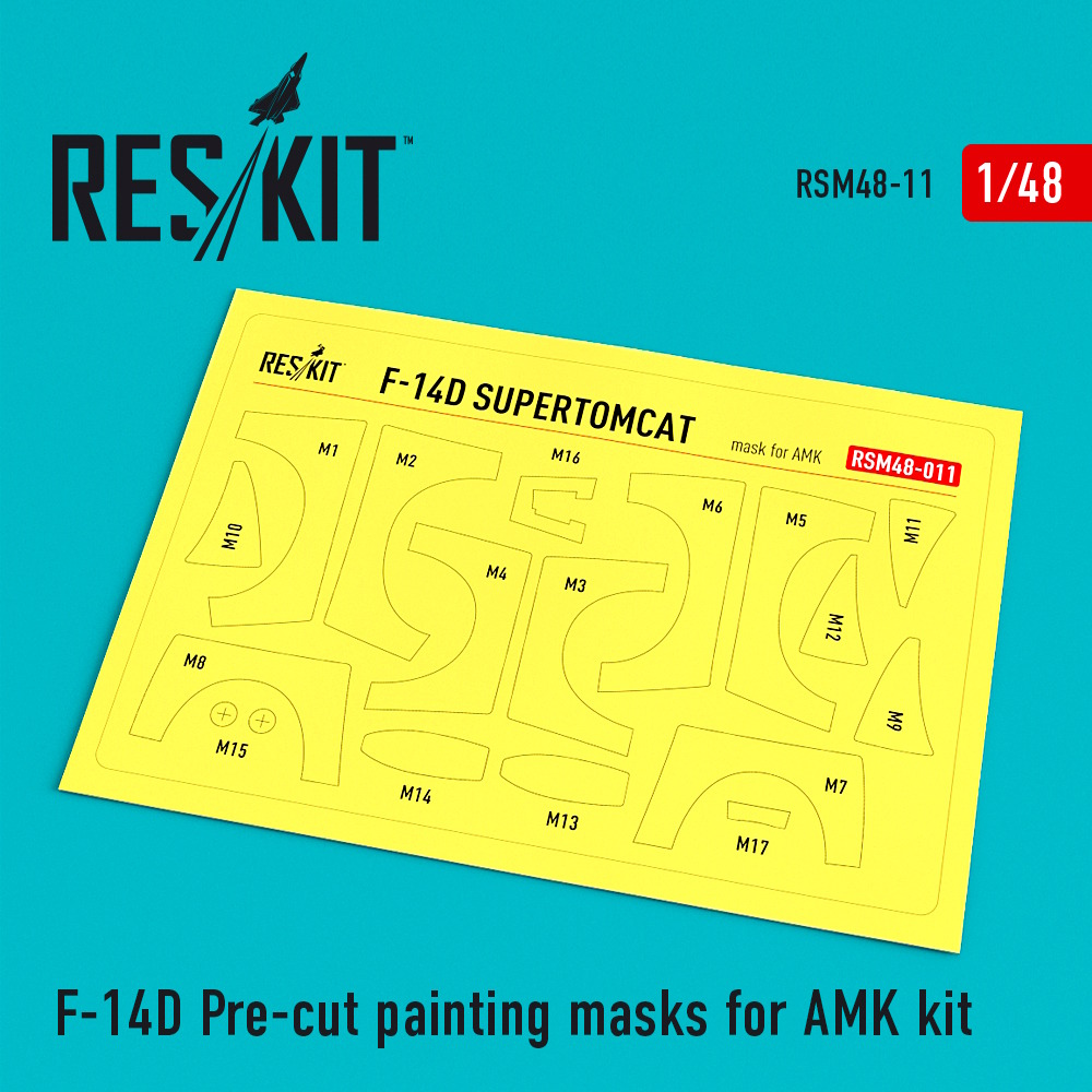 1/48 F-14D Pre-cut painting masks for AMK Kit