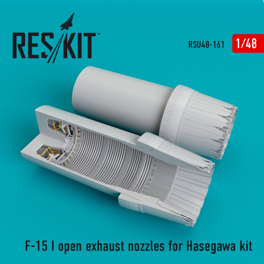 1/48 F-15 (I) open exhaust nozzles for Hasegawa Kit