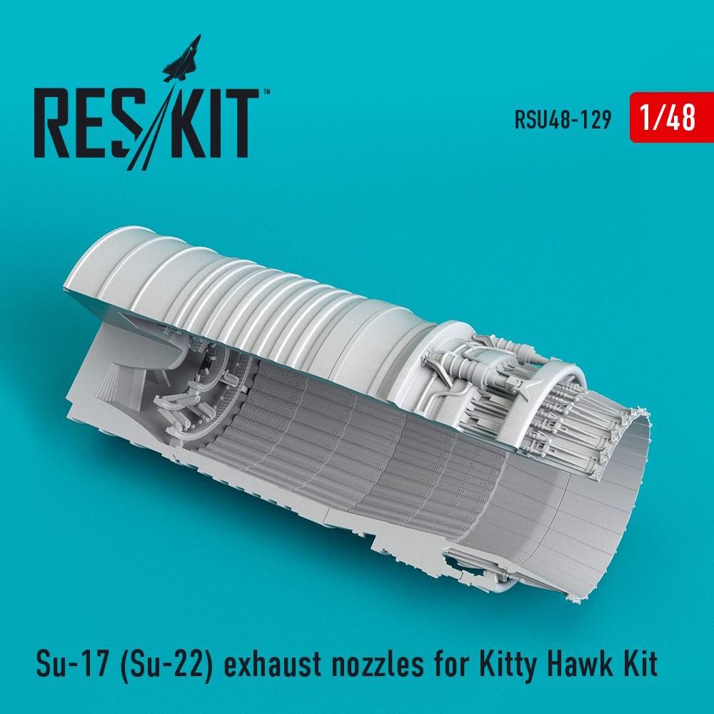 1/48 Su-17 (Su-22) exhaust nozzles for Kitty Hawk Kit
