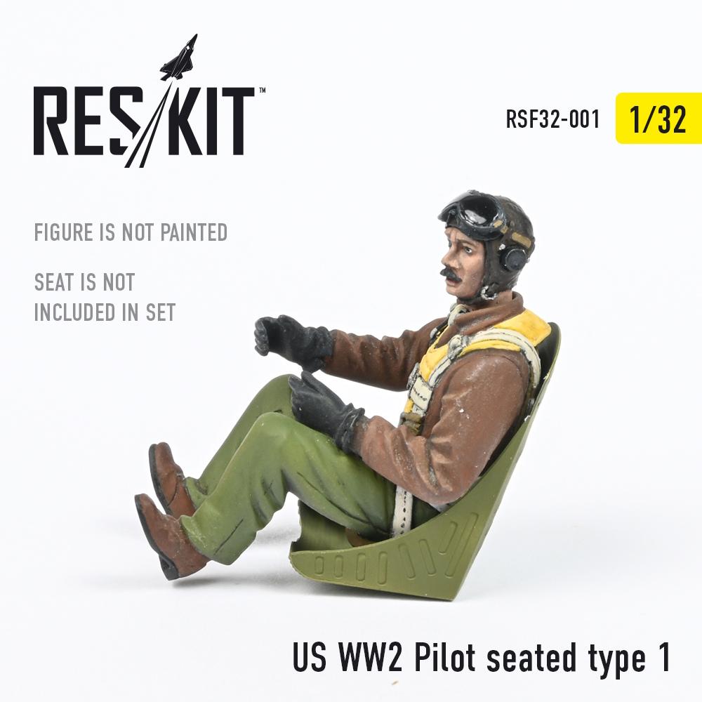 1/32 US WW2 Pilot seated type 1