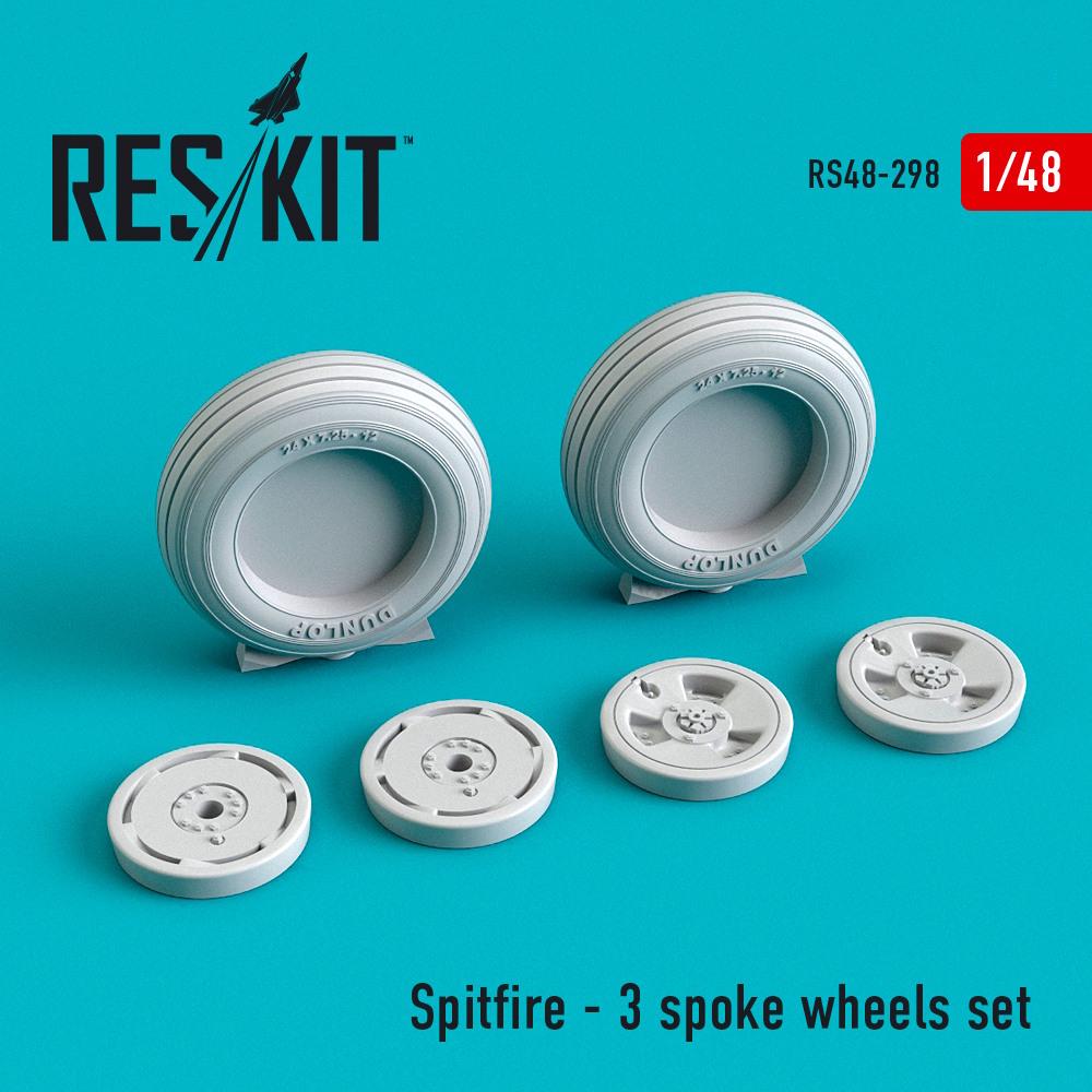 1/48 Spitfire - 3 spoke wheels set