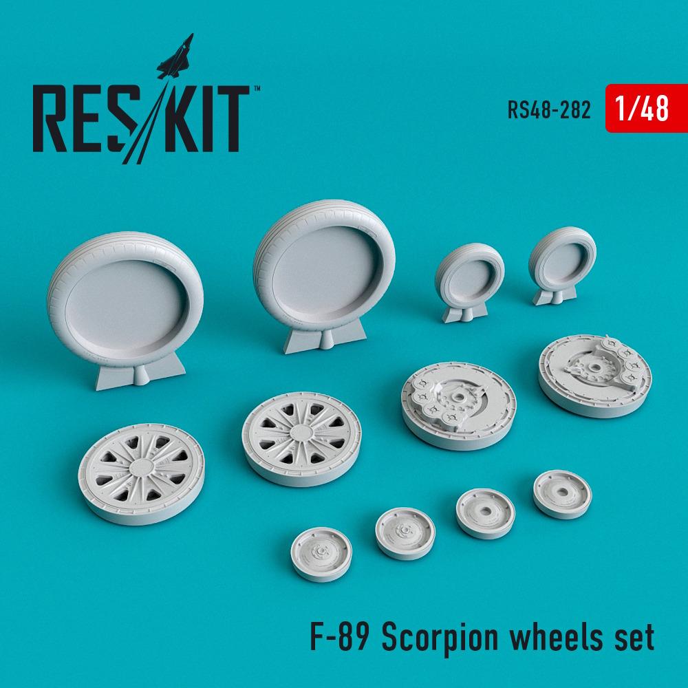 1/48 F-89 Scorpion wheels set