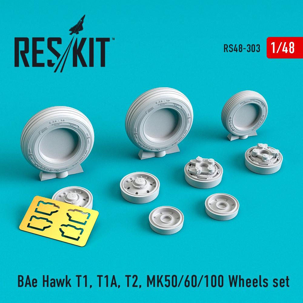 1/48 BAe Hawk T1, T1A, T2, MK50/60/100 Wheels set
