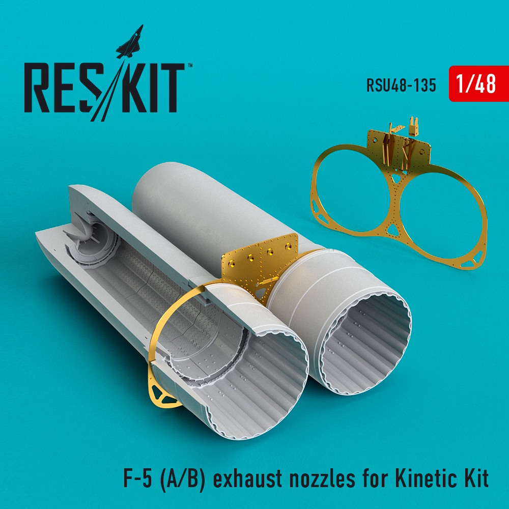 1/48 F-5 (A/B) exhaust nozzles for Kinetic Kit
