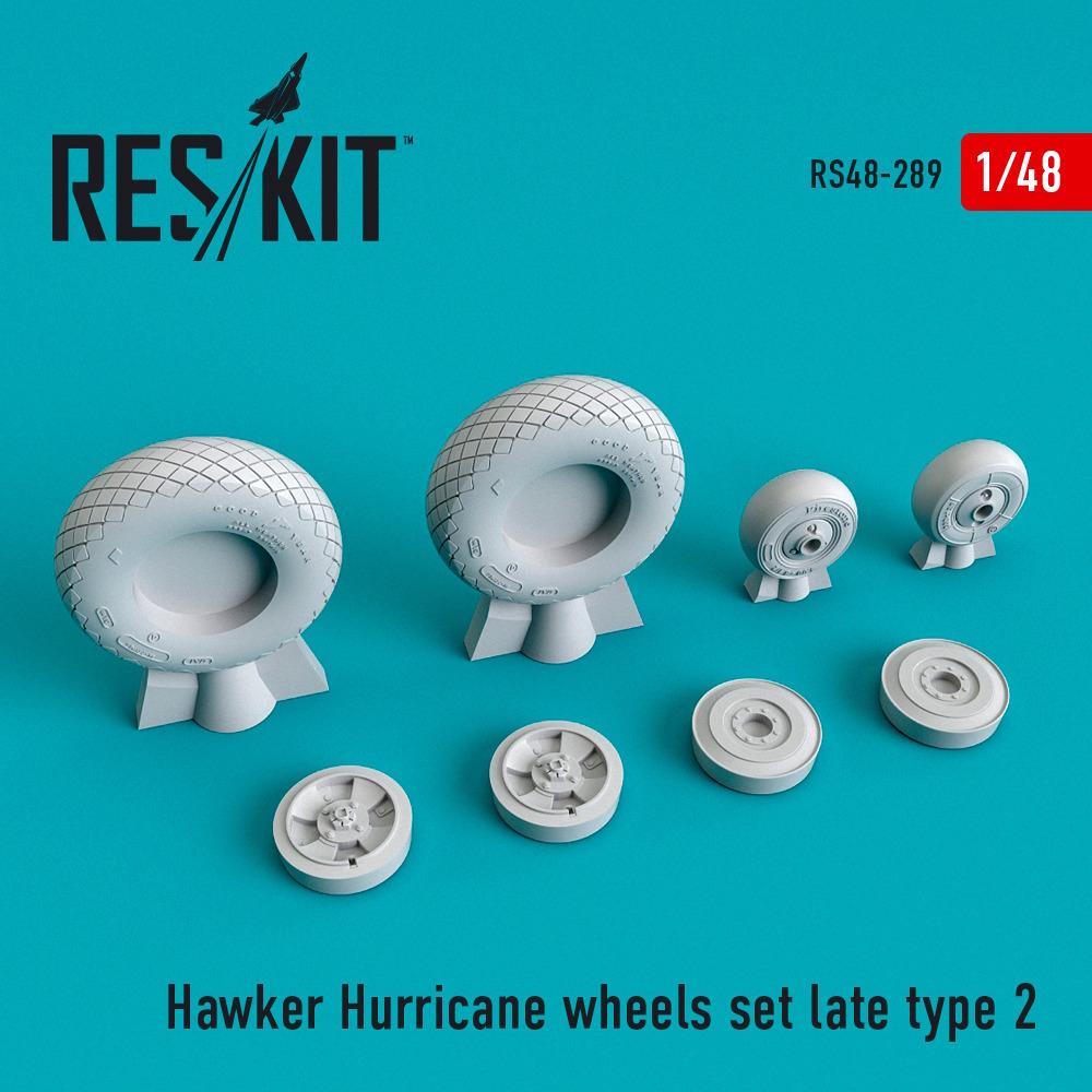 1/48 Hawker Hurricane wheels set late type 2