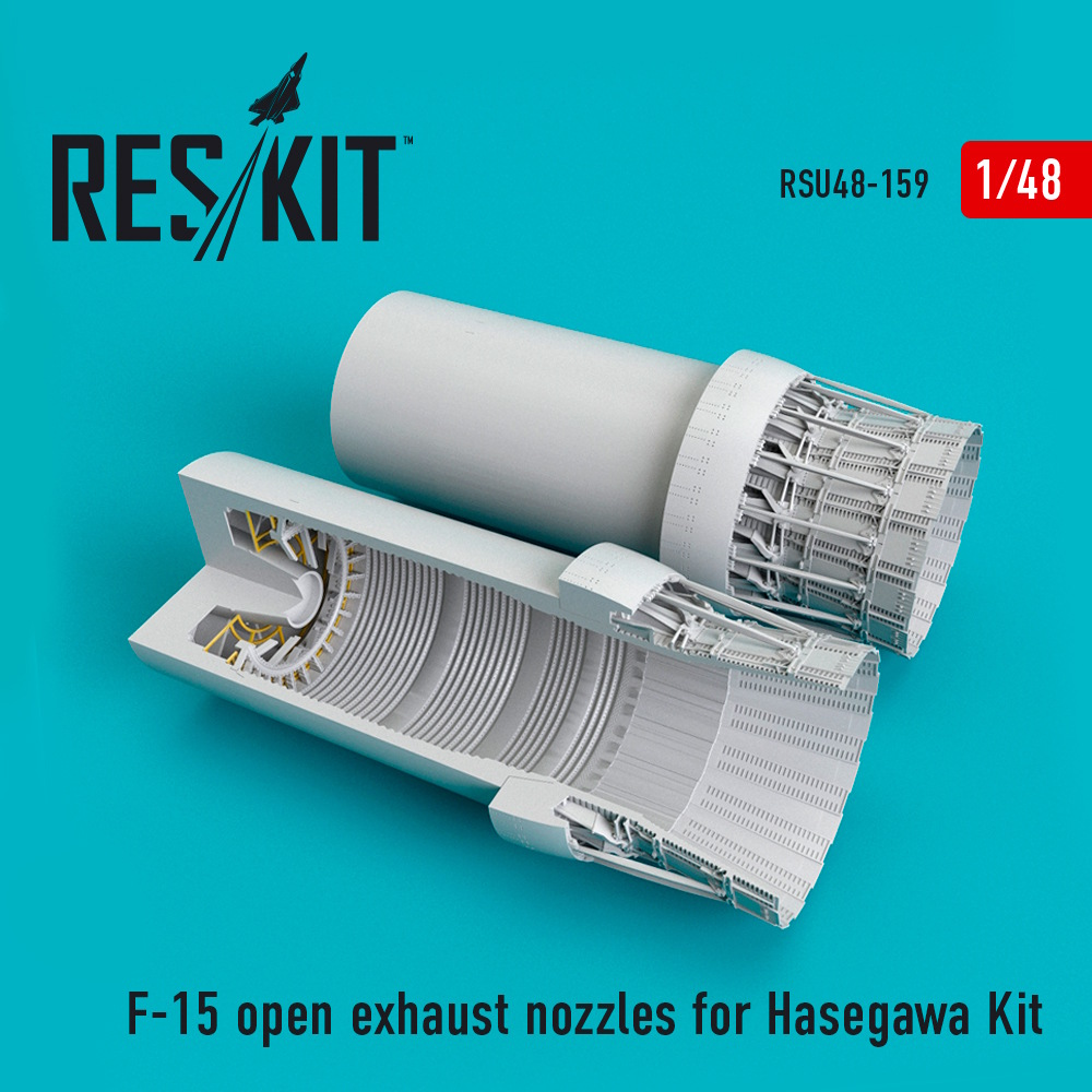 1/48 F-15 open exhaust nozzles for Hasegawa Kit