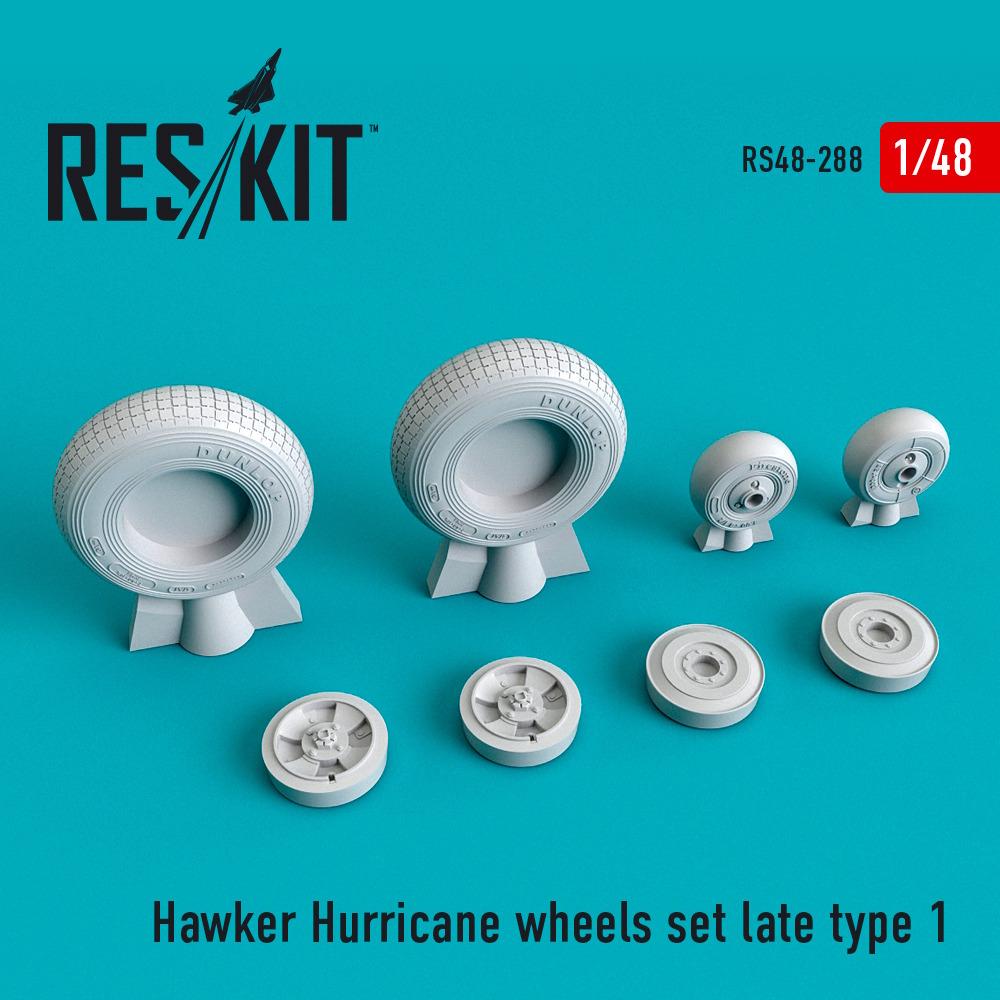 1/48 Hawker Hurricane wheels set late type 1