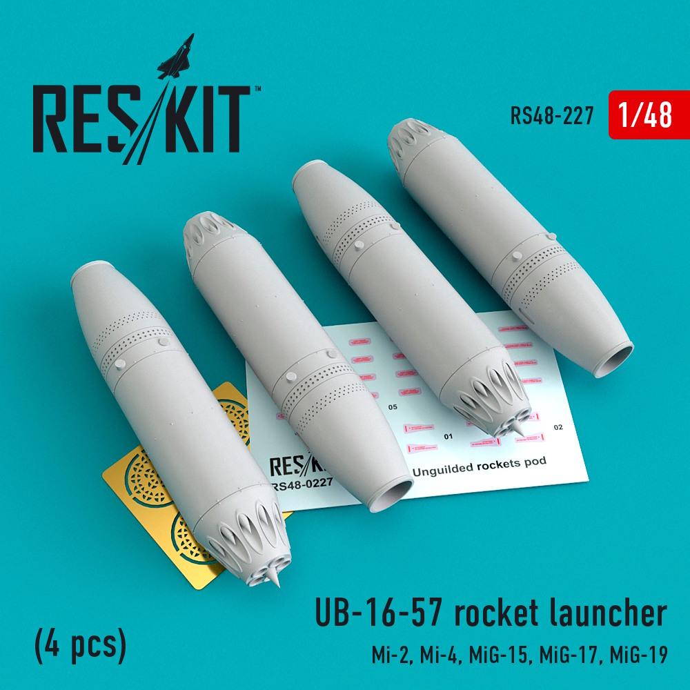 1/48 UB-16-57 rocket launcher (4 pcs) Mi-2, Mi-4, MiG-15, MiG-17, MiG-19