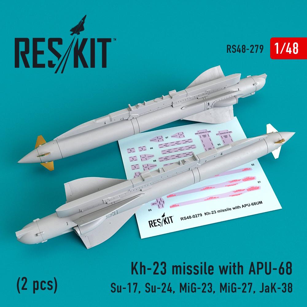 1/48 Kh-23 missile with APU-68 (2 pcs) (Su-17, Su-24, Mig-23, Mig-27, JaK-38)