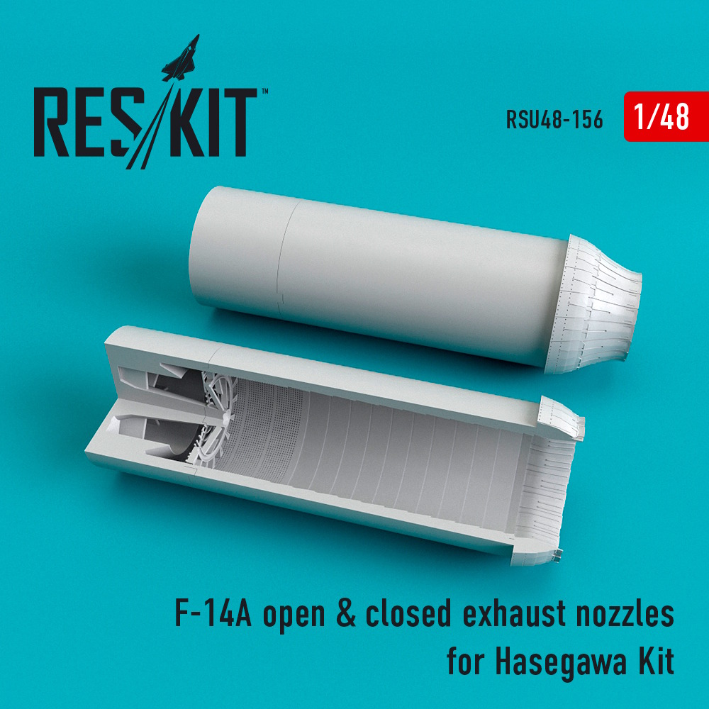 1/48 F-14A open + closed exhaust nozzles for Hasegawa Kit