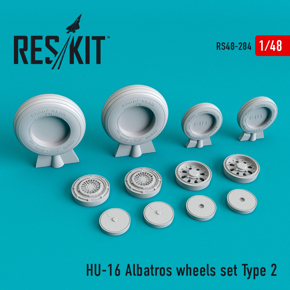 1/48 HU-16 Albatros wheels set Type 2