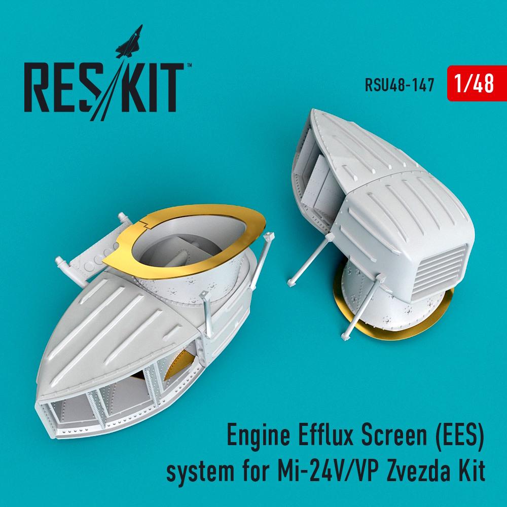 1/48 Engine Efflux Screen (EES) system for Mi-24V/VP Zvezda Kit