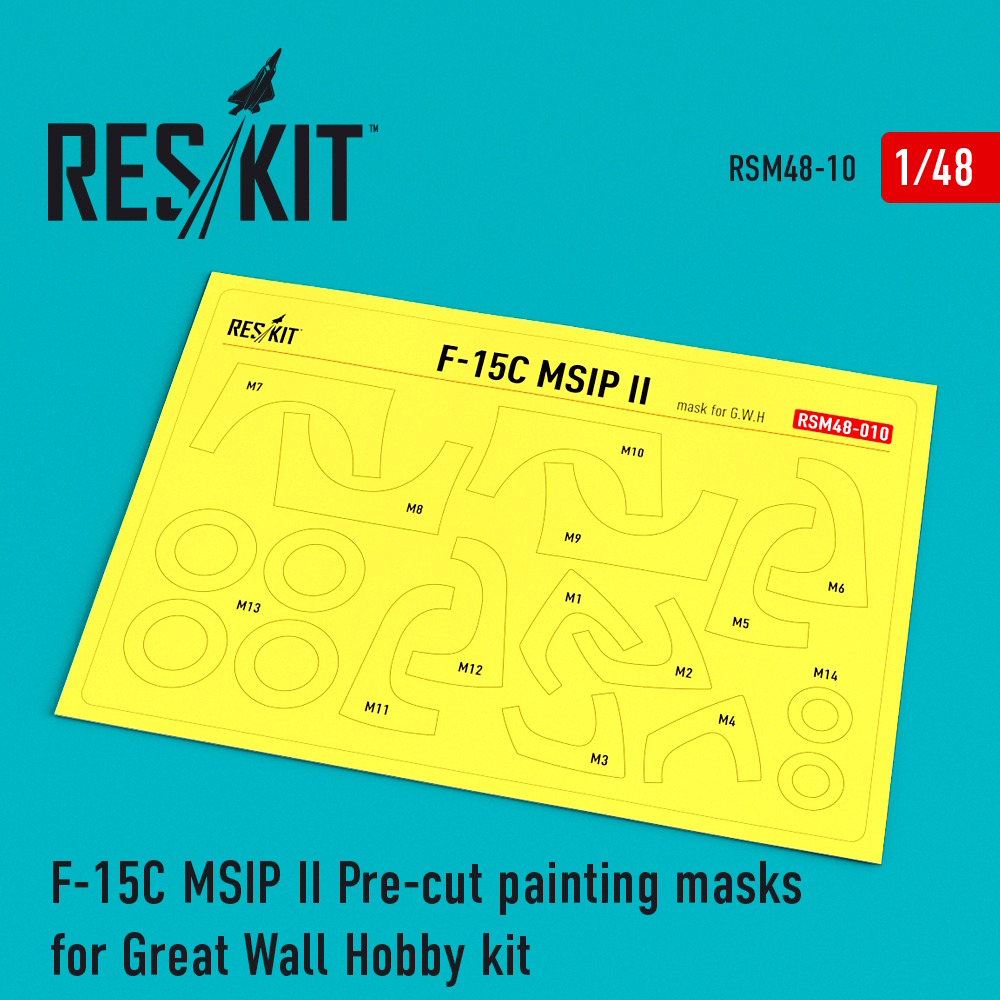 1/48 F-15 MSIP ll Pre-cut painting masks for Great Wall Hobby (L4817) kit
