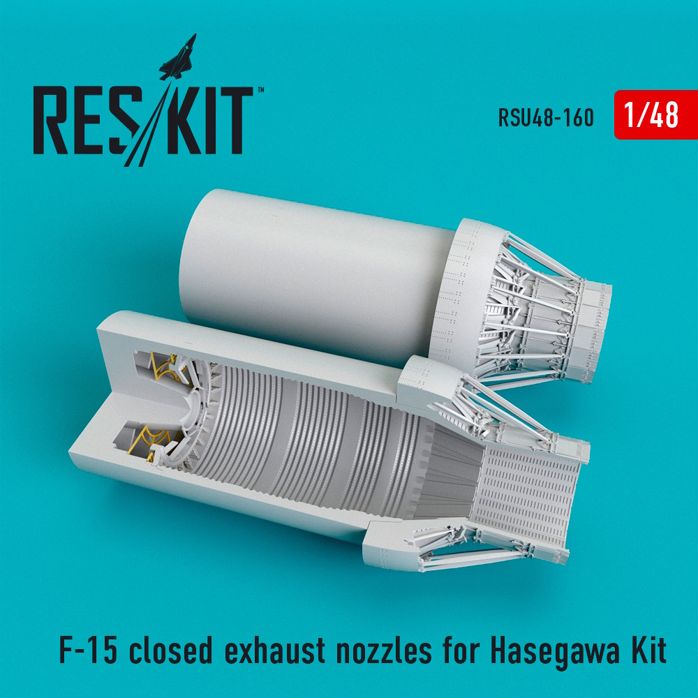 1/48 F-15 closed exhaust nozzles for Hasegawa Kit