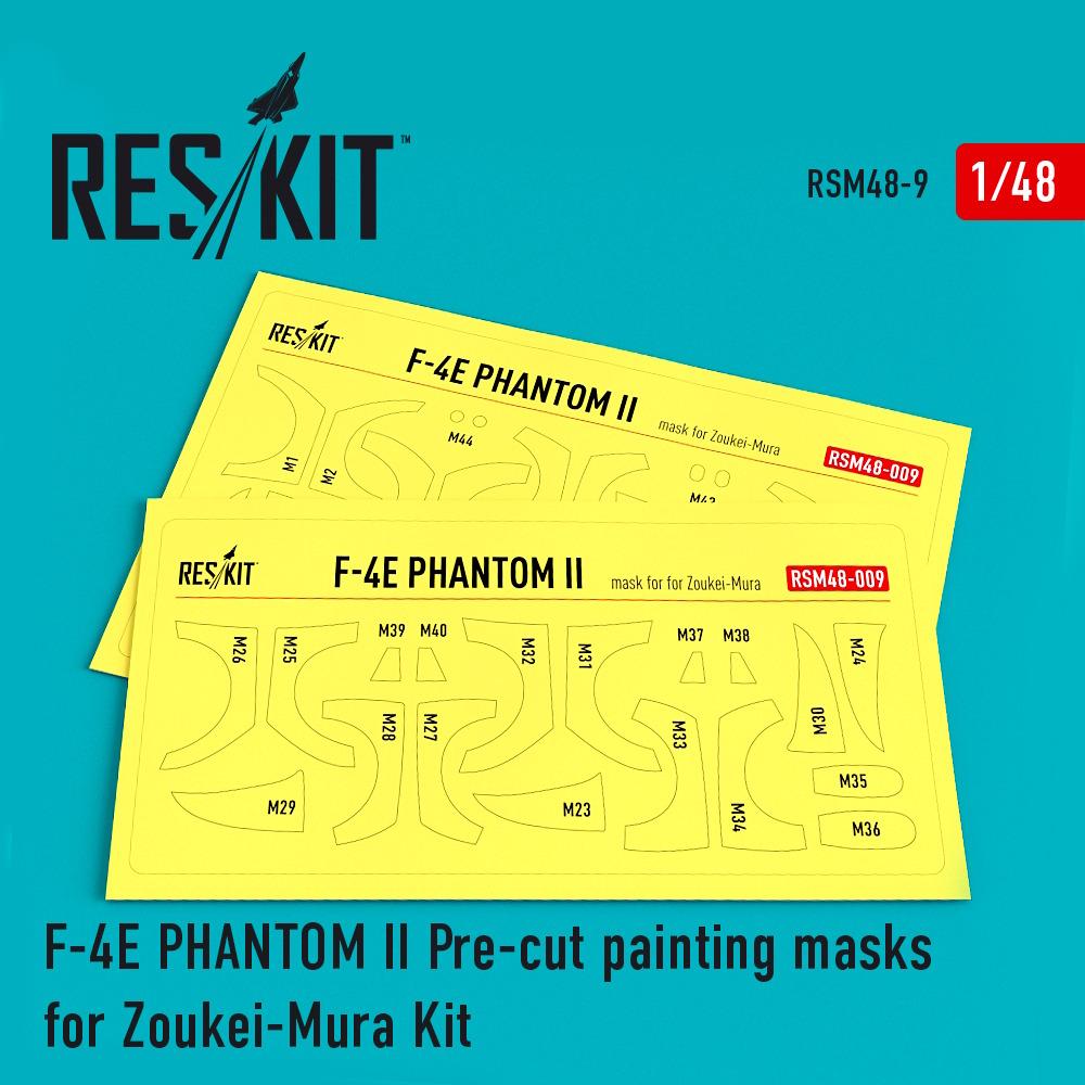 1/48 F-4 (E) Phantom II Pre-cut painting masks for Zoukei-Mura kit